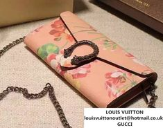 0a9cd6a8652 Gucci Dionysus Blooms Print Chain Shoulder Wallet 404141 Pink 2016