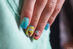 Nail art Bob l'éponge --- Sponge Bob Nail Design