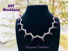 Herringbone stitch Necklace Simple Beaded Necklace - YouTube