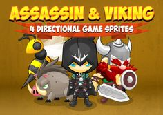 Assassin & Viking - Game Sprites by pzUH on Creative Market