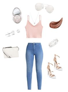 """""""Summer outfit #10"""" by dalylah7 ❤ liked on Polyvore featuring Fiorelli, Linda Farrow, Gucci, Too Faced Cosmetics, Links of London and Nadri"""
