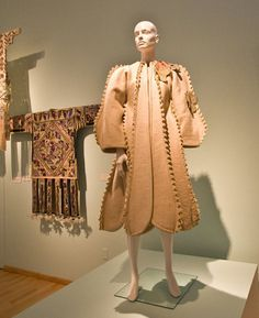"Zandra Rhodes wool felt coat ""The Dinosaur"" c.1971"