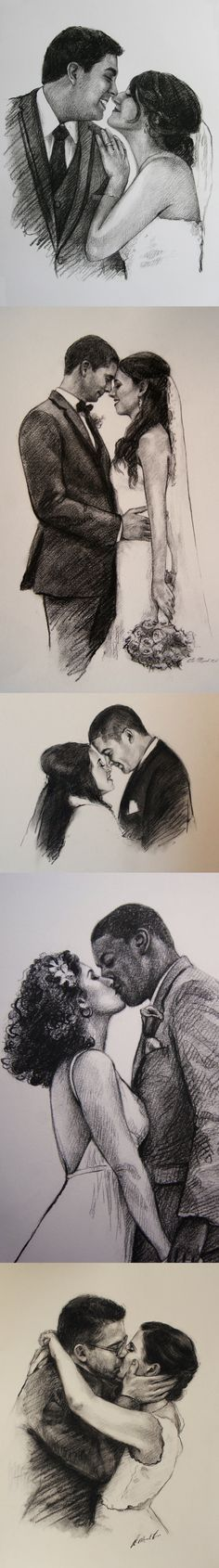 Custom portrait Custom drawing Valentines day gift for him for husband wife to husband gift