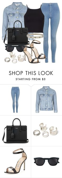 """""""Style #11336"""" by vany-alvarado ❤ liked on Polyvore featuring Topshop, Yves Saint Laurent, Manolo Blahnik and Cartier"""