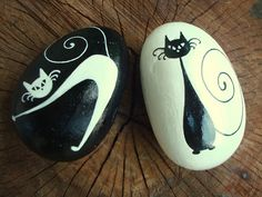 Painted stones - cats