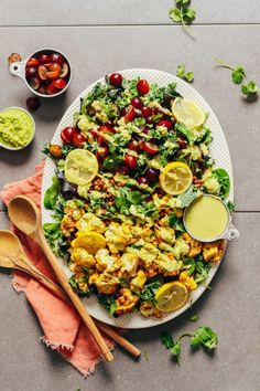 Curried Cauliflower, Grape, and Lentil Salad