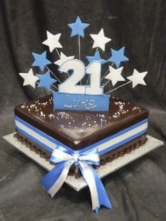 Boys 18th and 21st cake 32