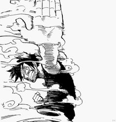 Luffy from One Piece One Piece Anime, One Piece Luffy, Manga Anime, Manga Art, Anime Art, One Piece Drawing, Nerd, The Pirate King, One Piece Pictures