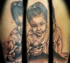 Black and Grey Portrait Tattoo by NY Nic  #portrait #tattoo #tattooartist #nyctattoo