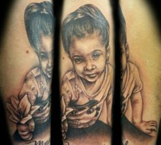 Black and Grey Portrait Tattoo by NY Nic  #portrait #tattoo #tattooartist #nyctattoo