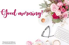 GOOD MORNING! We got our head on straight our heart in the right place and our smile fully loaded.  Let's get out there and change the world.#goodmorning #OrnamentsByRebecca #positivequotes