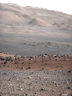 The Martian landscape as captured by NASA's Curiosity rover