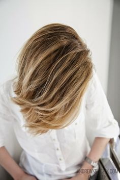 Such a cool blond color hair style. Highlights inspiration
