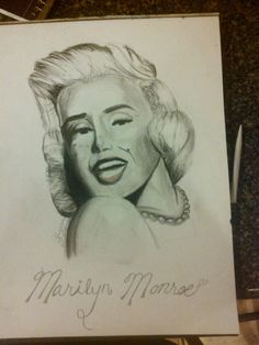 Took me four tries to get this xD I'm gonna be doing more portraits to build my skill up with it. Art Painting, Sculptures, Drawings, Painting, Deviantart, Art, Portrait, Marilyn Monroe Art