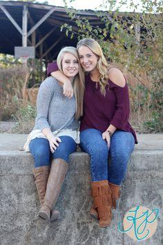 best friends senior portraits | Athens Photographer | KP Photography