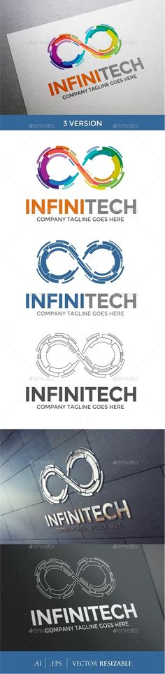 Infinity Logo Template — Vector EPS #technology #infinite • Available here → https://graphicriver.net/item/infinity-logo-template/9697507?ref=pxcr