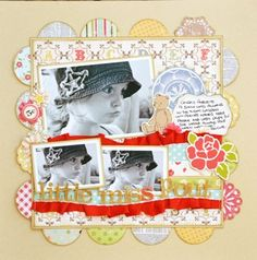 Love the circles around the square frame!!  by Zoe via Simple Stories