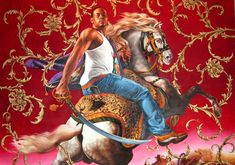 That's right. Riding like a horse BOSS! By Kehinde Wiley