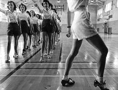 Tap Dancing Class, Iowa State College. Ames, Iowa