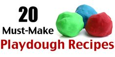 20 Ways to Make Play Dough