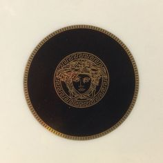 Estate Versace Hand Decorated 24K Gold Leaf Collectible Plate E DB201 | We combine shipping | No Question Refunds | Bid $60 for free shipping. Starting at $1