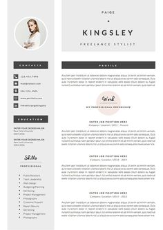 professional resume template cover letter icon set for microsoft word 4 page pack cv instant download the fast lane