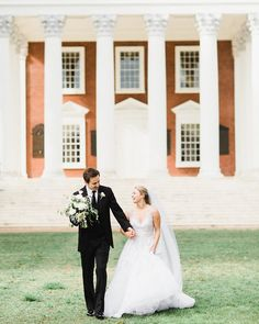 We love when alumni take wedding portraits on grounds. Where is your favorite spot at the University for photos? Photo by Vineyard Wedding Venues, Shenandoah Valley, Southern Weddings, Wedding Portraits, Got Married, Countryside, Florals, Hair Makeup, Wedding Day