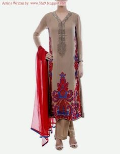 Chinyere Couture Fancy Formal Dress Collection for Winter-2014 - FASHIONPAB