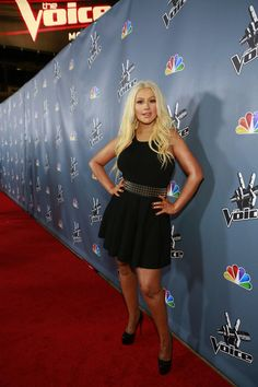 Christina Aguilera on the carpet for the #VoicePremiere! #TeamXtina