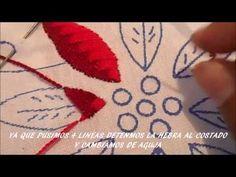 5 - Como Hacer Punto Hoja Bordado Mexicano Principiantes - YouTube