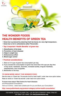 Know the health benefits of Green Tea .