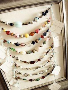 DIY jewelry display...great bracelet display