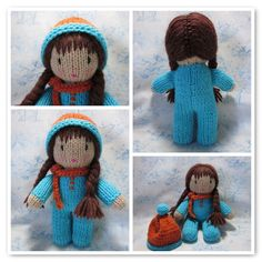 knit doll - love the hairstyle!