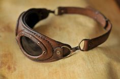 Steampunk aviator goggles. by DenBow.deviantart.com on @DeviantArt