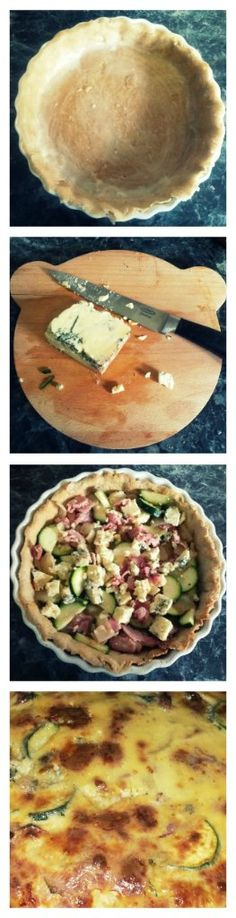 six out of ten magazine: Recipe: Courgette, Bacon and Blue Cheese Tart