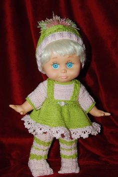 Outfit Only Handmade Knitted Crochet Outfit for Galoob Baby Face Dolls | eBay