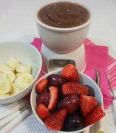 Fondue de Chocolate Caseiro | Blog Figos & Funghis