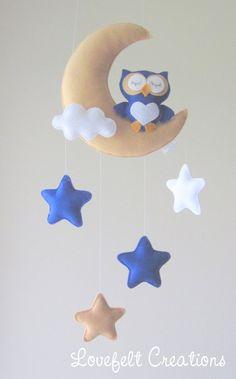 Baby mobile Owl mobile Crib Mobile Owl Baby Mobile Stars