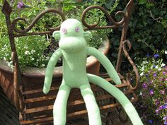 Farewell Mr Lime Green by The Violet Pincushion #sockmonkey