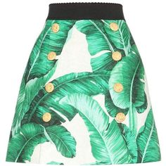 Dolce & Gabbana Printed Cotton and Silk Jacquard Miniskirt ($1,675) ❤ liked on Polyvore featuring skirts, mini skirts, green, short green skirt, jacquard skirts, short skirts, mini skirt and short mini skirts