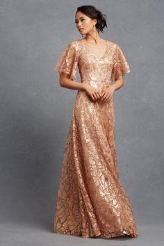 Rose gold sequin bridesmaid Dress   Camilla by Donna Morgan