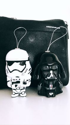 Storm Trooper and Darth Vader. Photo via OVRSLO. #starwars #ovrslo #flatlay #minimal #blackandwhite Flat Lay, Starwars, Minimal, Darth Vader, Backpacks, Flats, My Style, Flat Shoes Outfit, Star Wars