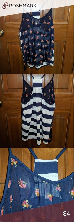 Multipatterned Racerback Tanktop Was my favorite top for the longest time yet I rarely wore it. Would always pair it with cuffed dark wash denim jeans, a grey cardigan and white Keds. Super super cute!! Xhilaration Tops Tank Tops