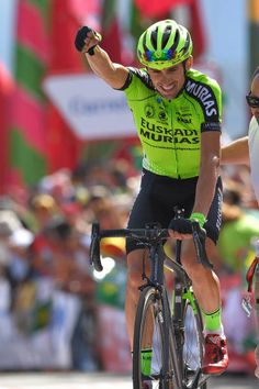 Arrival / Oscar Rodriguez of Spain and Team Euskadi Murias / Celebration / during the Tour of Spain 2018 Stage 13 a stage from Candas. Pro Cycling, Courses, Celebration, Stage, Biking, Bicycling