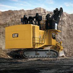 Caterpillar 7295 Electric Mining Shovel Heavy Construction Equipment, Heavy Equipment, Earth Moving Equipment, Caterpillar Equipment, Cat Machines, Welding Rigs, Logging Equipment, Crawler Tractor, Road Train