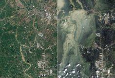 Google mostra o antes e depois do tsunami de 2011 no Japão