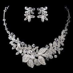 Stunning White Pearl & Ab Crystal Bride Wedding Formal Necklace Jewelry Set Chic Fixing Prices According To Quality Of Products Jewelry & Watches Bridal & Wedding Party Jewelry