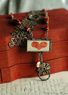 Love Letters Valentine's Day Red Statement by SimpleJoysPaperie