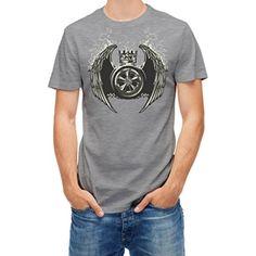 T-shirt Crown wings kingdom symbols Grey melange XXL - Brought to you by Avarsha.com