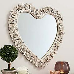 White rose heart mirror . . . L<3ve!